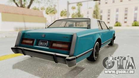 GTA 5 Dundreary Virgo Classic Custom v3 für GTA San Andreas linke Ansicht