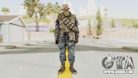 COD BO Russian Spetznas Flak MP v4 pour GTA San Andreas deuxième écran