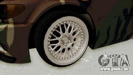BMW 3 Series E46 pour GTA San Andreas vue arrière