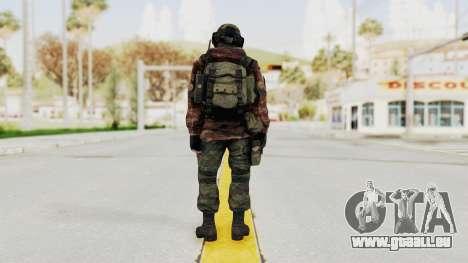 Battery Online Russian Soldier 7 pour GTA San Andreas troisième écran
