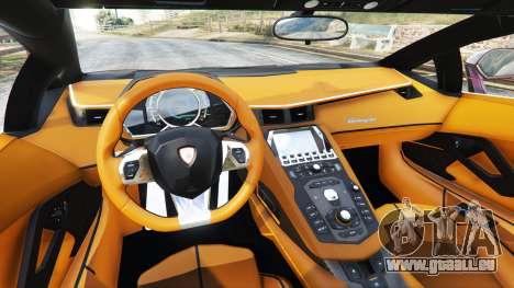 GTA 5 Lamborghini Aventador v1.1 arrière droit vue de côté