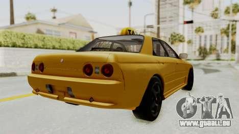Nissan Skyline R32 4 Door Taxi pour GTA San Andreas sur la vue arrière gauche