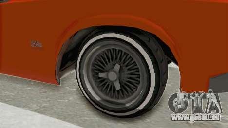 GTA 5 Declasse Sabre GT2 B für GTA San Andreas Rückansicht