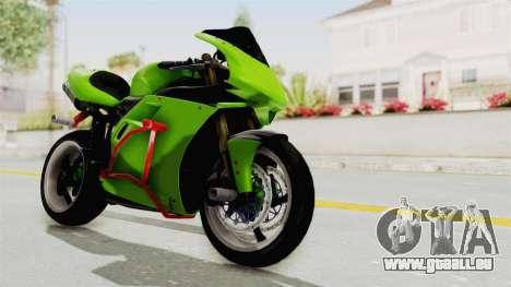Ducati 998R Modif Stunt für GTA San Andreas rechten Ansicht