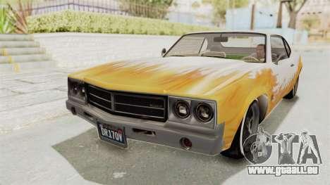 GTA 5 Declasse Sabre GT2 B pour GTA San Andreas vue de côté