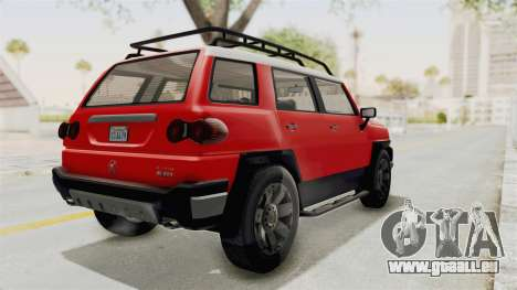 GTA 5 Karin Beejay XL IVF für GTA San Andreas zurück linke Ansicht