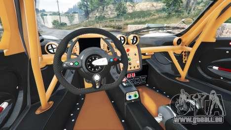 GTA 5 Pagani Zonda R v1.1 arrière droit vue de côté