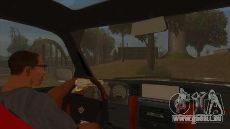 Nissan Patrol Y61 pour GTA San Andreas vue intérieure