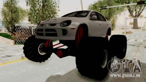 Dodge Neon Monster Truck für GTA San Andreas zurück linke Ansicht
