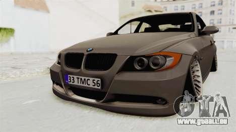 BMW 330i E92 Camber pour GTA San Andreas vue de droite