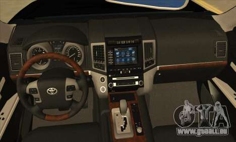 Toyota Land-Cruiser 200 pour GTA San Andreas vue intérieure