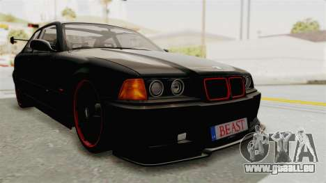 BMW M3 E36 Beast für GTA San Andreas zurück linke Ansicht