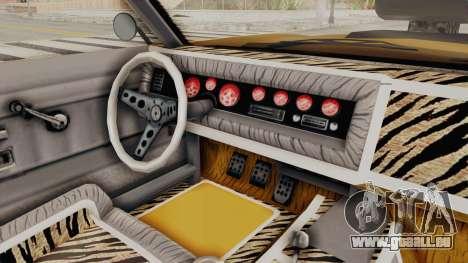 GTA 5 Declasse Sabre GT2 B IVF pour GTA San Andreas vue de côté