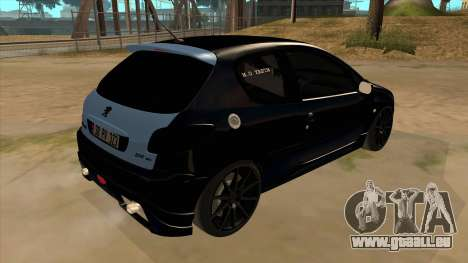 Peugeot 206 MO Edit pour GTA San Andreas vue de droite