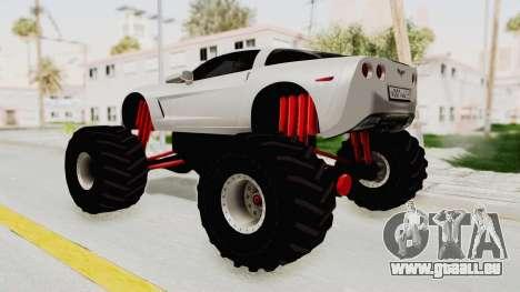 Chevrolet Corvette C6 Monster Truck für GTA San Andreas linke Ansicht