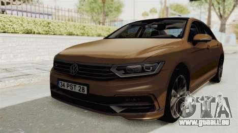 Volkswagen Passat B8 2016 RLine IVF pour GTA San Andreas