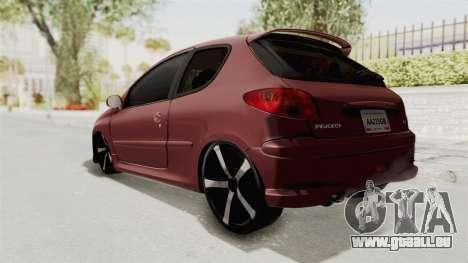 Peugeot 206 Full pour GTA San Andreas laissé vue