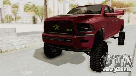 Dodge Ram Megacab Long Bed pour GTA San Andreas