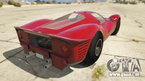 GTA 5 Ferrari 330 P4 1967 arrière vue latérale gauche