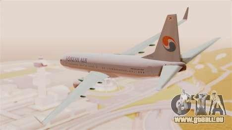 Boeing 737-800 Korean Air pour GTA San Andreas laissé vue