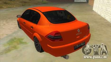 Renault Megane II Special TR pour GTA San Andreas sur la vue arrière gauche