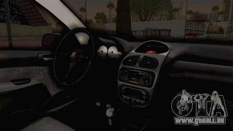 Peugeot 206 Full pour GTA San Andreas vue intérieure