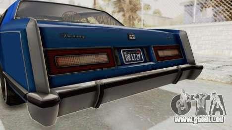 GTA 5 Dundreary Virgo Classic Custom v1 IVF pour GTA San Andreas vue de dessous