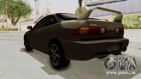 Acura Integra Fast N Furious pour GTA San Andreas sur la vue arrière gauche