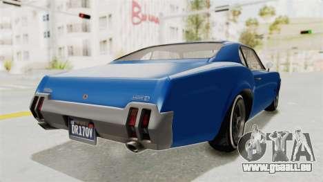 GTA 5 Declasse Sabre GT2 A pour GTA San Andreas vue de droite