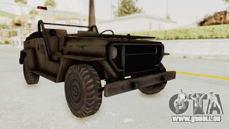 MGSV Jeep No LMG für GTA San Andreas