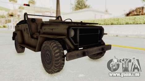 MGSV Jeep No LMG für GTA San Andreas