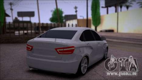 Lada Vesta Stock pour GTA San Andreas vue de droite