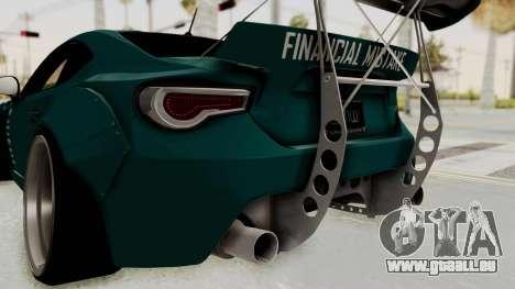 Scion FRS Rocket Bunny Killagram v1.0 pour GTA San Andreas salon