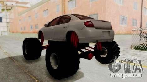 Dodge Neon Monster Truck für GTA San Andreas linke Ansicht