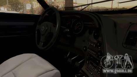 Jester Supra pour GTA San Andreas vue intérieure