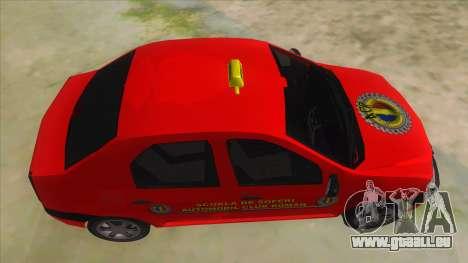 Dacia Logan Scoala pour GTA San Andreas vue intérieure
