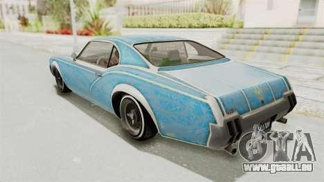 GTA 5 Declasse Sabre GT2 B für GTA San Andreas Räder