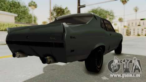 Chevrolet Nova 1969 StreetStyle pour GTA San Andreas sur la vue arrière gauche