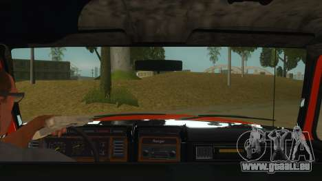1984 Ford F150 Final für GTA San Andreas Innenansicht