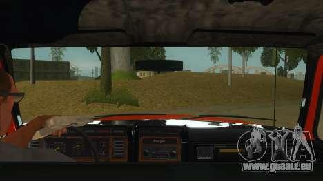 1984 Ford F150 Final pour GTA San Andreas vue intérieure