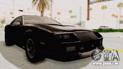 Chevrolet Camaro Z28 Iroc-Z Targa 1991 für GTA San Andreas rechten Ansicht