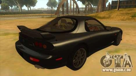 Mazda RX7 S Spirit R pour GTA San Andreas vue de droite