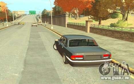 GAZ 3110 für GTA 4 hinten links Ansicht