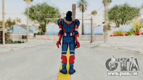 Marvel Heroes - Iron Patriot pour GTA San Andreas troisième écran