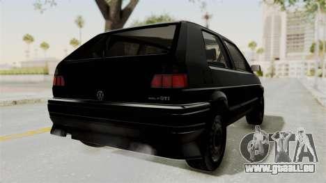 Volkswagen Golf 2 Tuning für GTA San Andreas zurück linke Ansicht