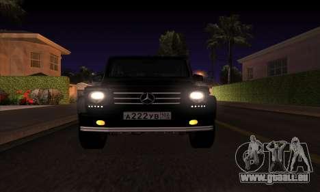 Mercedes G55 Kompressor für GTA San Andreas rechten Ansicht
