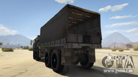 GTA 5 Heavy Expanded Mobility Tactical Truck hinten links Seitenansicht