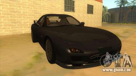 Mazda RX7 S Spirit R für GTA San Andreas Rückansicht