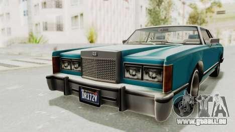 GTA 5 Dundreary Virgo Classic Custom v3 für GTA San Andreas Rückansicht
