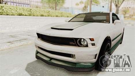 GTA 5 Vapid Dominator v2 SA Style pour GTA San Andreas vue de dessus